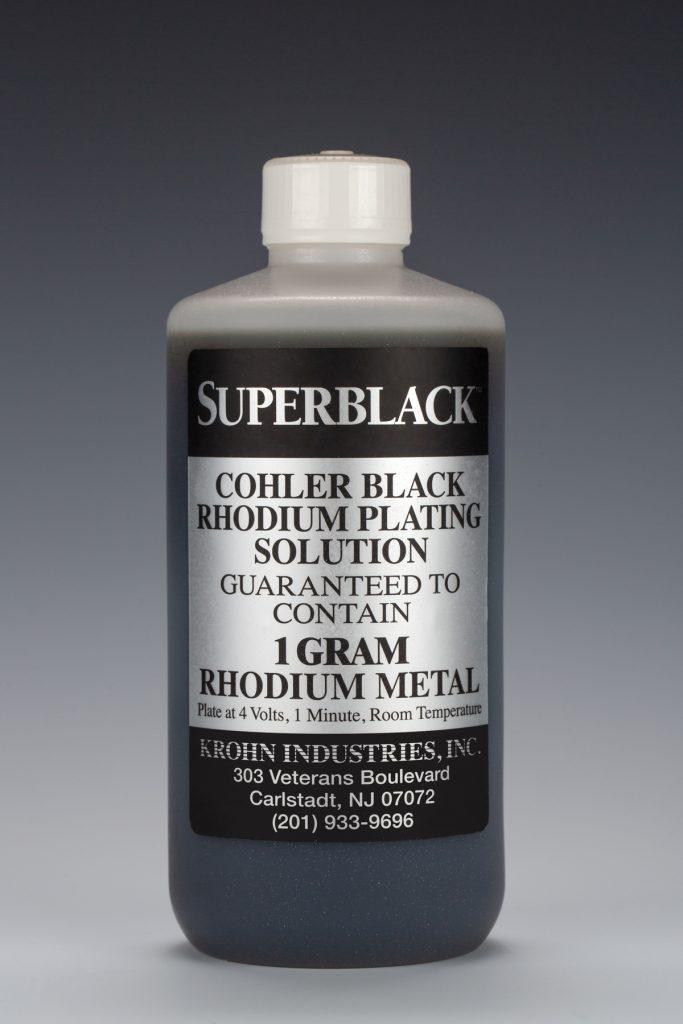 Superblack Black Rhodium Bath Plating - Cohler